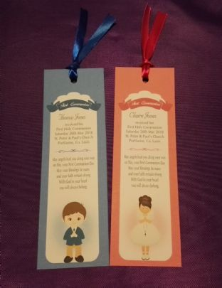 Boy / Girl Communion Bookmark
